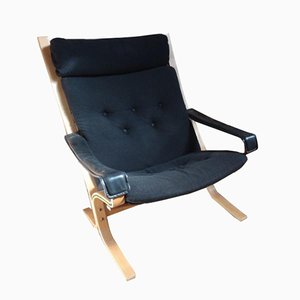 Danish Black Fabric Armchair by Ingmar Relling for Westnofa, 1970s