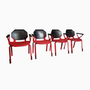Red Metal Office Chair by Froscher for Sitform