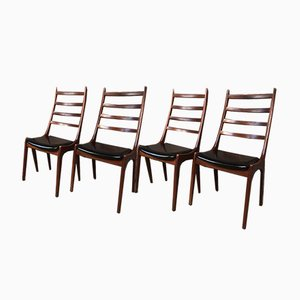 Danish Dining Chairs by Johan Andersen for Uldum Mobelfabrik, 1960s, Set of 4