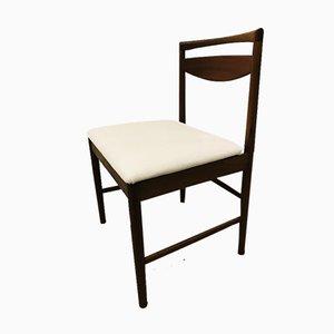 Teak & Weiße Leder Esszimmerstühle von Mcintosh, 1970er, Set à x