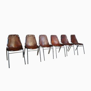 Esszimmerstühle von Charlotte Perriand für Les Arc, 1960er, 6er Set