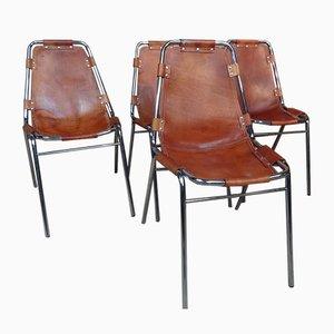 Chaises de Salon par Charlotte Perriand Chairs pour Les Arc, 1960s, Set de 4