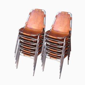 Chaises de Salon par Charlotte Perriand Chairs pour Les Arc, 1960s, Set de 12