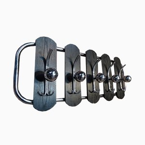 D27 Black Chrome Coat Rack, 1960s