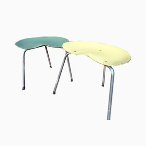 French Stool on Metal Legs, 1950s