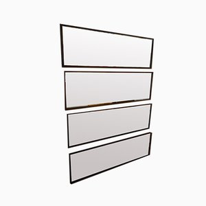 Grands Miroirs Horizontaux en Teck, 1960s, Set de 4