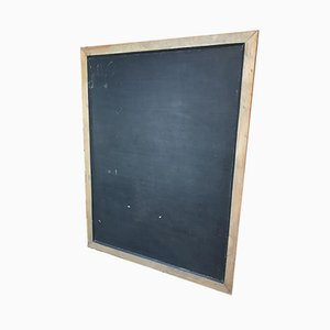 Large Industrial Blackboard with Cast Iron Wall Attachment