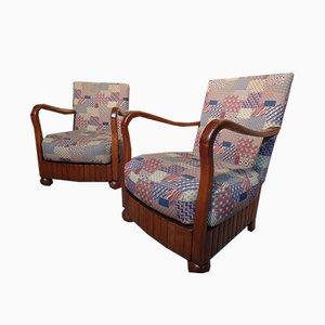 Art Deco Stuhl aus Massivholz, 1930er
