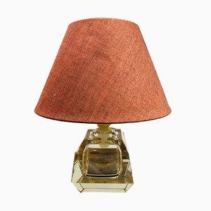 Lampe de Bureau en Cristal Attribuée à Baccarat, 1950s