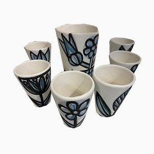 Tassen und Krug Set von Roger Capron, 1960er, Set of 7
