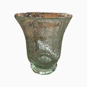 Vase en Verre Bullé de Daum, 1950s