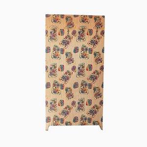 Panneau de Manteau Floral Mid-Century avec 4 Crochets en Laiton, 1950s