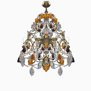 Vintage Italian Glass Chandelier