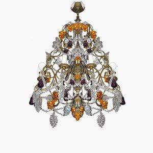 Vintage Italian Glass Chandelier