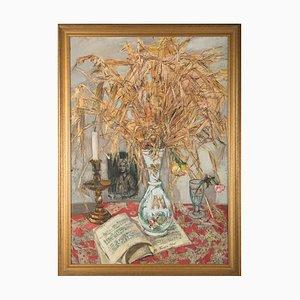 Pittura ad olio Mid-Century di Françoise Adnet