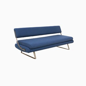 Mid-Century Nickel Base Daybed Sofa, 1960s