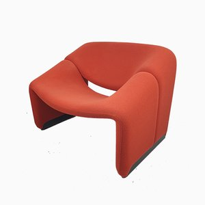 Model F598 Groovy Lounge Chair by Pierre Paulin for Artifort, 1980s