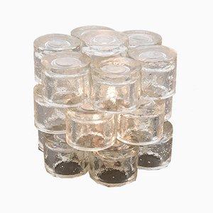 Zylinderförmige Glas Tischlampe von Poliarte, 1968