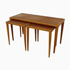 Swedish Teak Coffee Tables, 1960s, Set of 3