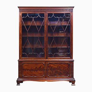 Antique Chippendale Revival Mahogany Cabinet