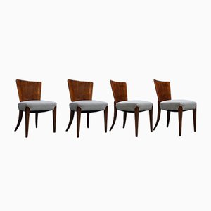 Art Deco Model H-214 Dining Chairs by Jindřich Halabala for Thonet, 1920s, Set of 4