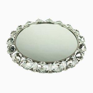 Beleuchteter Mid-Century Kristallglas Spiegel von Palwa