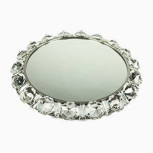 Mid-Century Crystal Glass Illuminated Mirror from Palwa