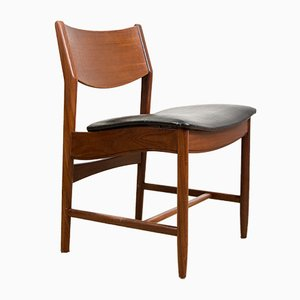 Danish Teak and Skai Side Chairs from Glostrup, 1960s, Set of 4