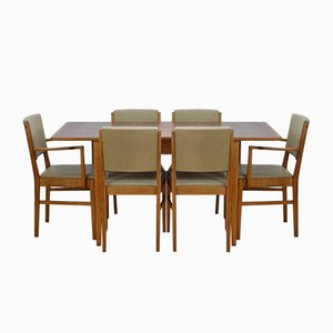 Mid-Century Dining Table & Chairs Set by Gordon Russell for Russell's of Broadway, 1950s, Set of 7