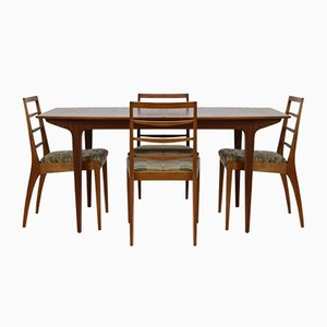 Mid-Century Dining Table & Chairs Set from A.H.Mcintosh, 1960s, Set of 5