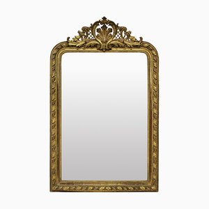 Antiker vergoldeter Overmantel Spiegel, 1860er