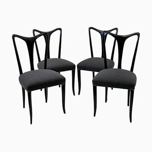 Italian Dining Chairs by Guglielmo Ulrich, 1950s, Set of 4