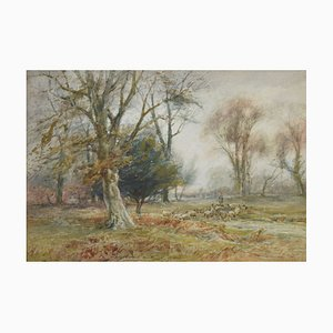 Antique Watercolor by W. Ramsey
