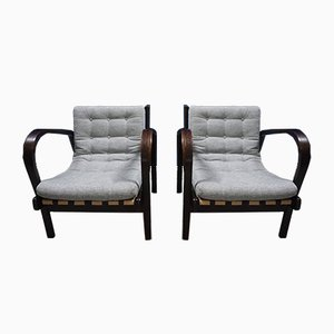 Lounge Chairs by Karel Kozelka and Antonín Kropáček for Interier Praha, 1940s, Set of 2