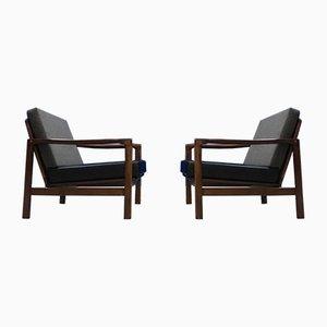 Mid-Century Sessel von Zenon Baczyk für Swarzedz Furniture Factory, 1960er, 2er Set