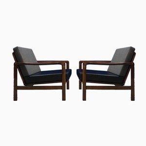 Mid-Century Sessel von Zenon Baczyk für Swarzedz Furniture Factory, 1960er, 4er Set