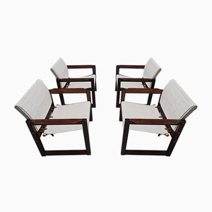 Diana Safari Canvas Chairs by Karin Mobring for Ikea, 1972, Set of 4