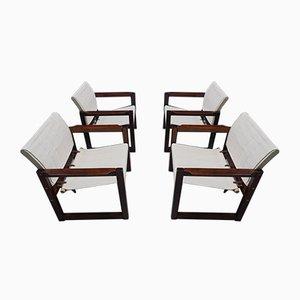 Diana Safari Leinen Stühle von Karin Mobring für Ikea, 1972, 4er Set