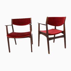 Dänische Palisander Esszimmerstühle von Henning Kjærnulf für Sorø Stolefabrik, 1960er, 2er Set