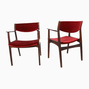 Danish Rosewood Dining Chairs by Henning Kjærnulf for Sorø Stolefabrik, 1960s, Set of 2