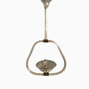 Art Deco Murano Glass Pendant Lamp by Ercole Barovier, 1940s