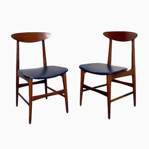 Mid-Century Italian Dining Chairs in the Style of Ico Parisi, Set of 4