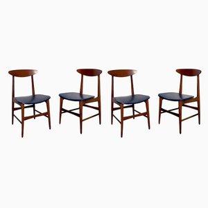 Chaises de Salon Mid-Century Style Ico Parisi, Italie, Set de 4