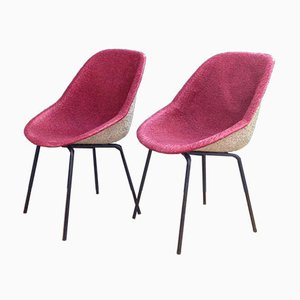 Pink Chairs by Genevieve Dangles-Christian Defrance for Burov, 1950s, Set of 2