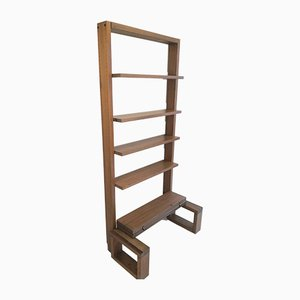 Vintage French Wooden Shelf, 1970s