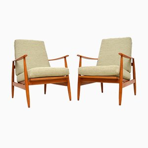 Vintage Danish Armchairs, 1960s, Set of 2