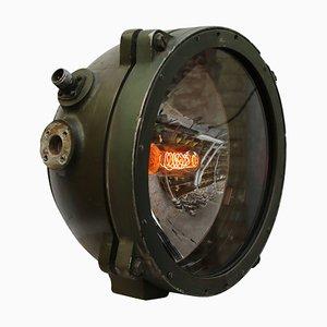 Lampe de Bureau Army Vintage Industrielle en Métal Vert et Verre Miroir