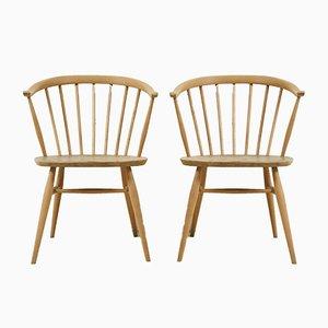 Vintage Stühle aus Ulmenholz in Crown-Optik von Lucian Ercolani für Ercol, 1960er, 2er Set