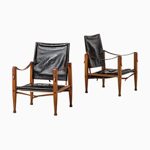 Safari Chairs by Kaare Klint for Rud Rasmussen, Denmark, 1960s, Set of 2