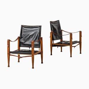 Safari Stühle von Kaare Klint für Rud Rasmussen, Dänemark, 1960er, 2er Set